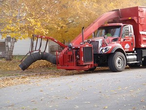 Leaf Collection Truck